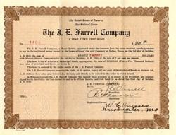J.E. Farrell Company - Texas 1923