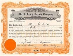 J. Henry Koenig Company (Coffee Roaster)  - Cincinnati, Ohio 1937