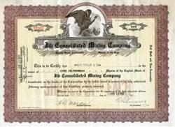 Jib Consolidated Mining Company - Basin Mining District, Montana  1925