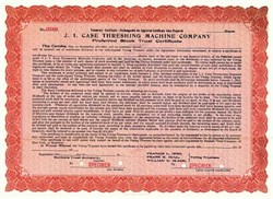 J.I. Case Threshing Machine Company 1912