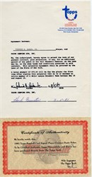 Dusty Baker Topps Player Agreement 1981