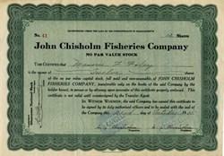John Chisholm Fisheries Company -  Gloucester, Massachusetts 1925
