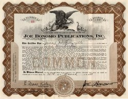 Joe Bonomo Publications, Inc. - New York 1940 ( Famous Bodybuilder )