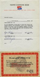 Joe Rudi Player Contract with Topps Chewing Gum Company - 1966