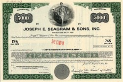 Joseph E. Seagram & Sons, Inc. - Indiana