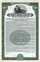 Joseph E. Seagram & Sons, Inc. $1000 Bond - Indiana 1945