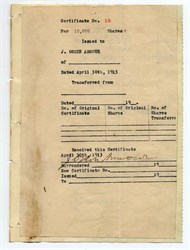 J. Ogden Armour signed document - 1913