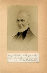 John Greenleaf Whittier Old Photo with Hand Signed Note