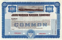 John Warren Watson Company ( Makers of the Watson Stabilator in Old Cars )