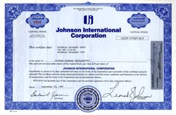 Johnson International Corporation - Michigan 1987