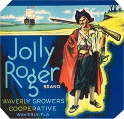 Jolly Roger Crate Label