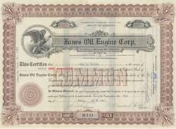 Jones Oil Engine Corporation - 1921