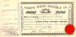 Joseph Dixon Crucible Co. 1890 - Famous Pencil Maker