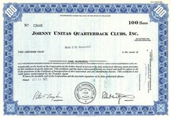 Johnny Unitas Quarterback Clubs, Inc. - Delaware 1974