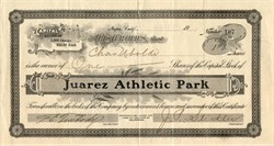 Juarez Athletic Park - Napa, California 1921