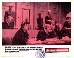 Judgement de Nuremberg Lobby Card Starring Spencer Tracy, Burt Lancaster, and Richard Widmark - 1961