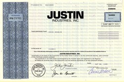 Justin Industries, Inc. (Acquired by Berkshire Hathaway Inc) - Texas 1994