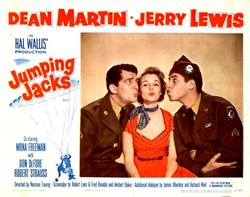 Jumping Jacks Lobby Card Starring Dean Martin and Jerry Lewis - 1952