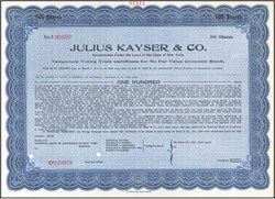 Julius Kayser & Co. (Early Gulf & Western Company)