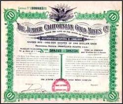 Jumper Californian Gold Mines 1910