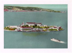 Jumbo Postcard from Alcatraz Island, San Francisco Bay, California