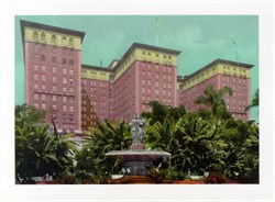 Jumbo Postcard from the Biltmore Hotel, Los Angeles, California