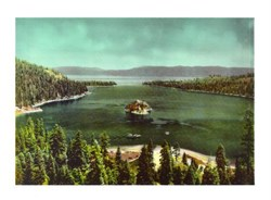 Jumbo Postcard from Emerald Bay, Lake Tahoe, California