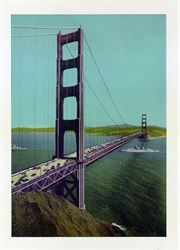 Jumbo Postcard from the Golden Gate Bridge, San Francisco, California