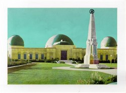 Jumbo Postcard from Griffith Observatory and Planetarium, Los Angeles, California