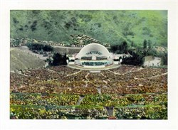 Jumbo Postcard from the Hollywood Bowl, Hollywood, California