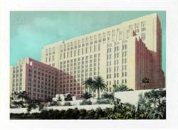 Jumbo Postcard from Los Angeles County Hospital, California