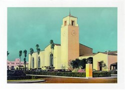 Jumbo Postcard from the Los Angeles Union Station, California