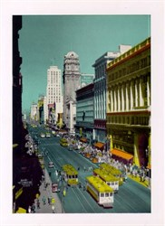 Jumbo Postcard from Market Street, San Francisco, California