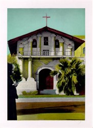 Jumbo Postcard from the Mission Dolores, San Francisco, California