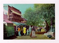 Jumbo Postcard from Olivera Street, Los Angeles, California
