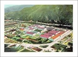 Warner Brothers Studio, Burbank, California - Postcard 1940's