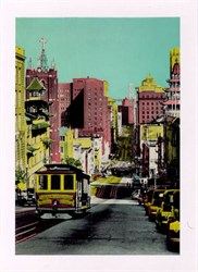 Jumbo Postcard of a California Street Cable Car