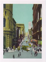 Jumbo Postcard of the Powell Street Cable Car and Turntable, California