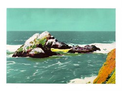 Jumbo Postcard of the Seal Rocks, San Francisco, California