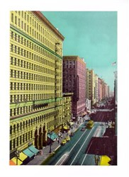 Jumbo Postcard of West Seventh Street, Los Angeles, California