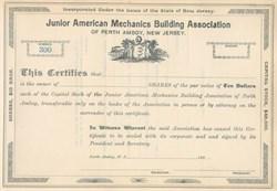 Junior American Mechanics Building Association - 1890's