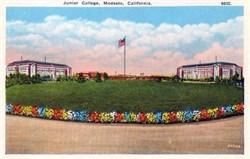 Junior College, Modesto, California Postcard