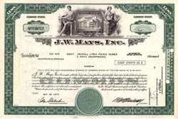 Mays ( J. W. ), Inc. ( Famous New York Department Store )