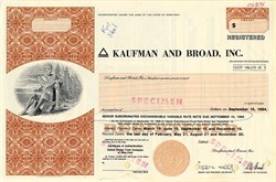 Kaufman and Broad, Inc. (Eli Broad as Chairman)  - Maryland