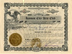 Kansas City Aero Club ( Hot Air Baloons)  - Missouri 1910