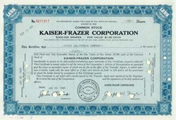 Kaiser Frazer Automobile Corporation, Nevada circa 1945 -1948