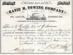 Katie M. Towing Company (Riverboat Vignette)  - St. Louis, Missouri 1879
