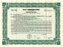 Kay Corporation - Delaware 1973