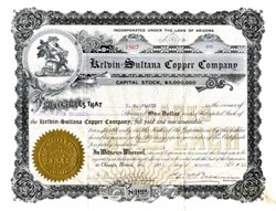 Kelvin Sultana Copper Company - Arizona 1911 - Pinal. Riverside.