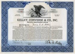 Kelley, Converse & Company, Inc. - New York 1932 - Wall Street Bond Dealers